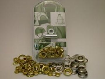Picture of 13mm Nickel Plated Brass Eyelet kit
